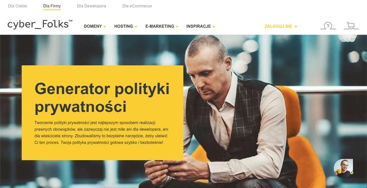Generator polityki prywatności cyber_folks