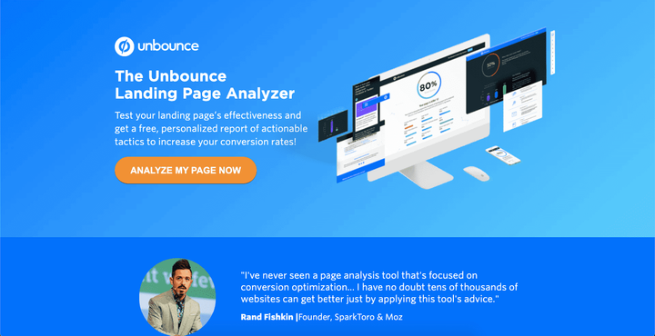 Unbounce - landing page analyzer