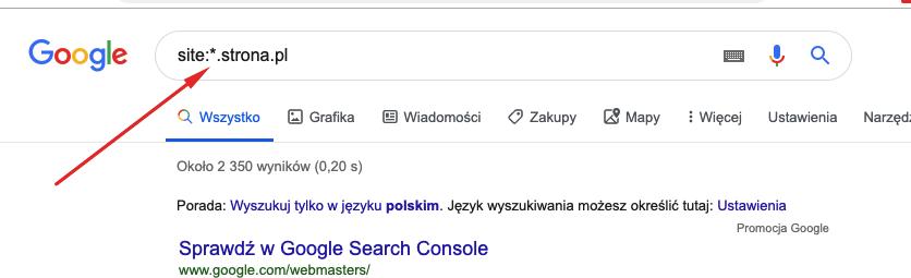 konkurencja subdomeny w google