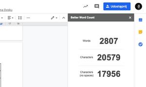 wtyczki do chrome - better word count