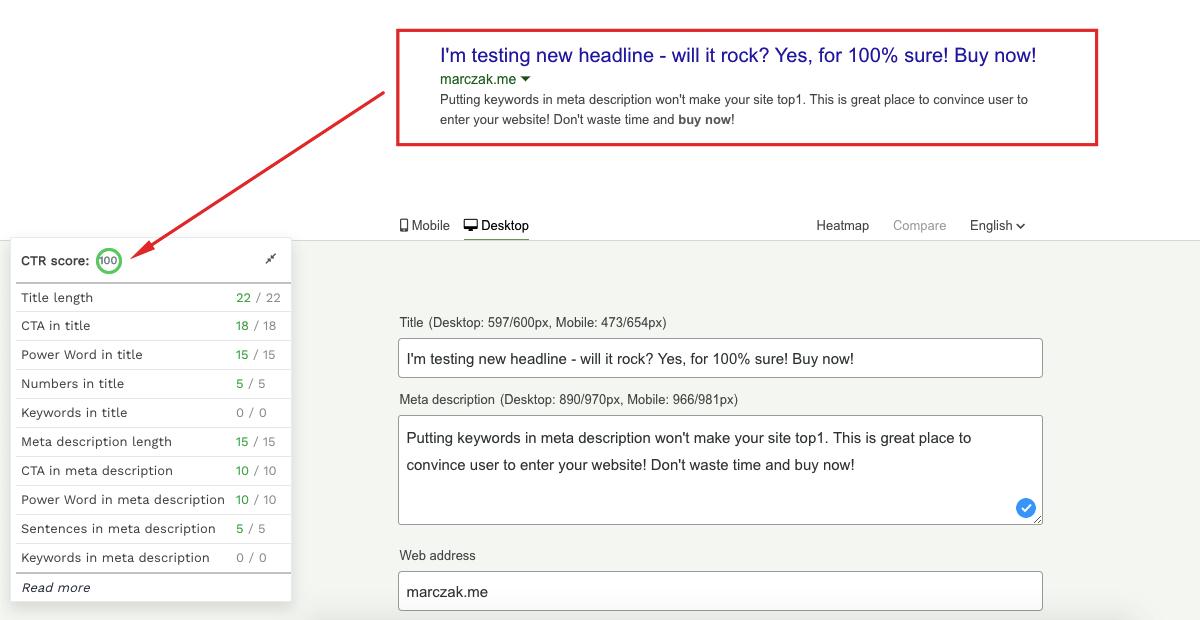 ctr-tool - optymalizacja tagów title i description