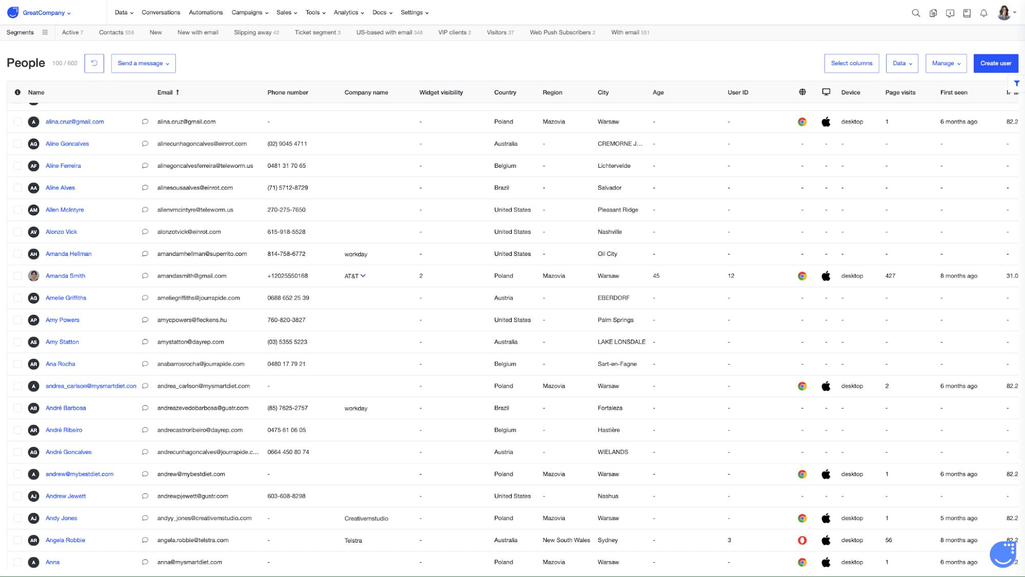 user tracking user.com